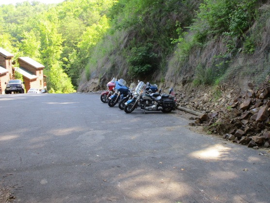 Three Harley's and a Victory in the mountains