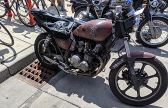 "Another bike that screamed out to me ""An industrial music fan seeks to survive the Zombie Apocalypse"""