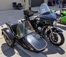A Moto Guzzi sidecar setup