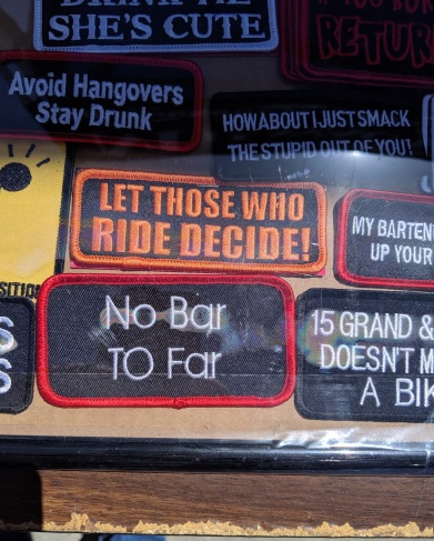 Bikers are not known for their grammatical prowess.