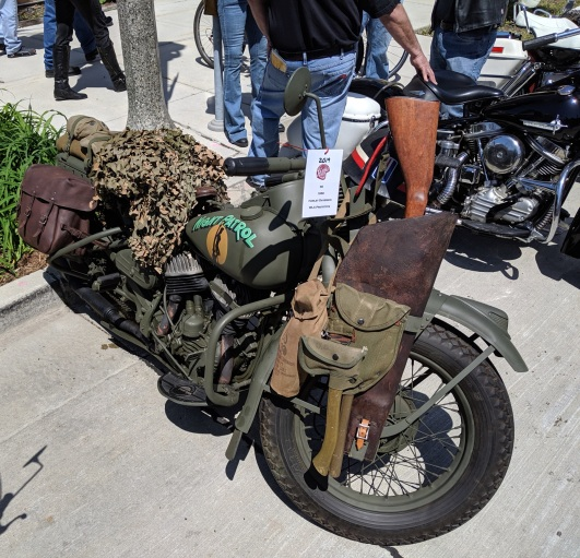 I thought maybe this was a zombie survival bike, but it's for something a little more practical...
