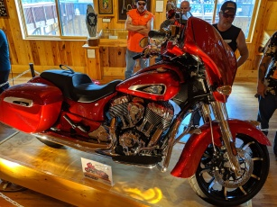 "This ""Sturgis Edition"" Chieftain was being raffled off."